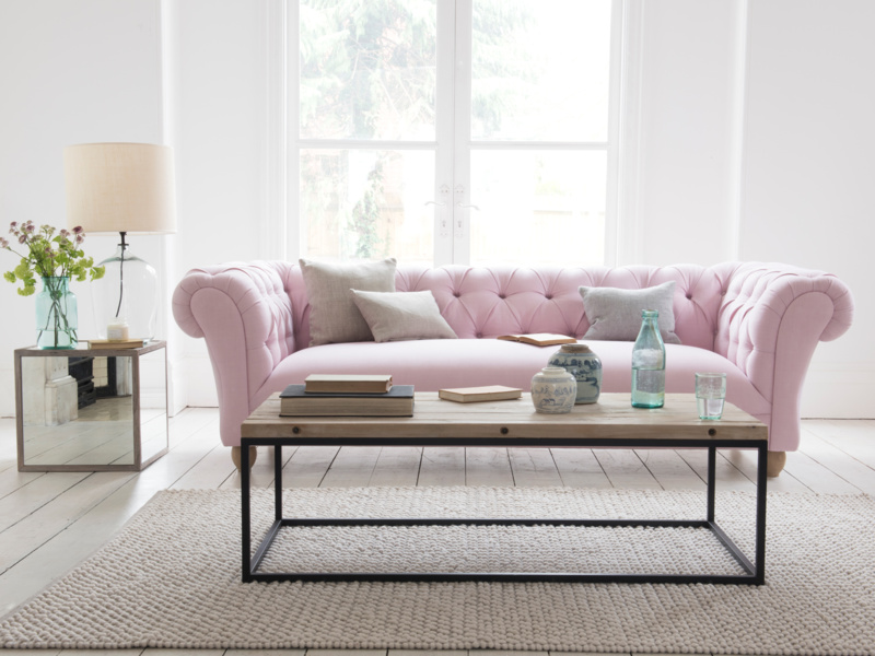 Dusty Pink sofa Loaf, carrouselles